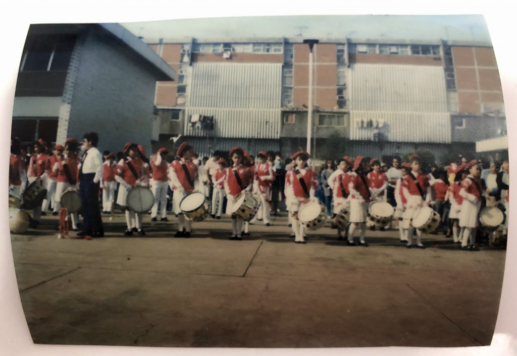 Marching band at a Mexican primary school